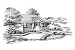 Berm Home Plan Front Image of House - 007D-0156 | House Plans and More