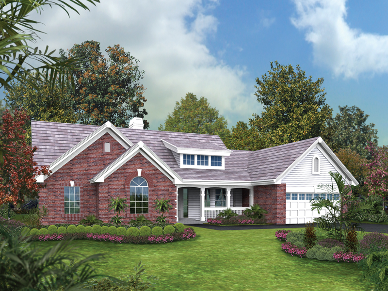 Ranch House Plan Front of Home 007D-0157