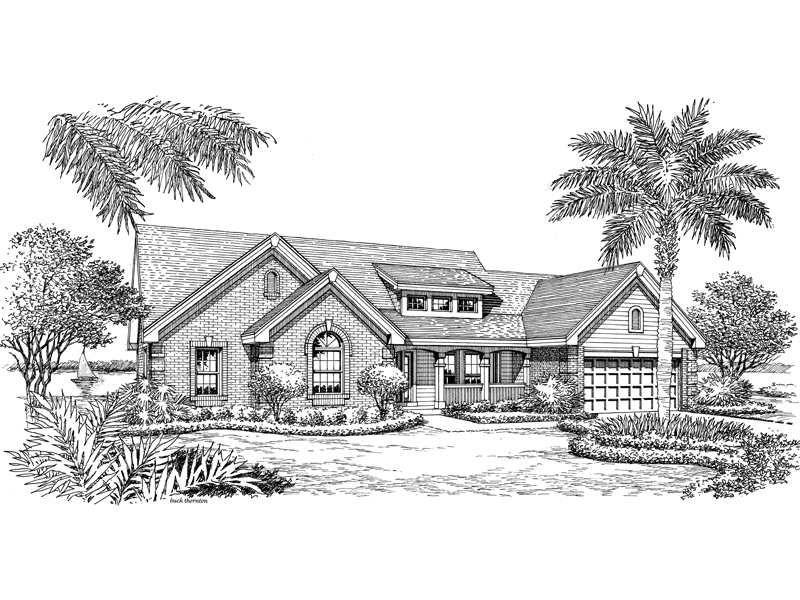 Bungalow House Plan Front Image of House 007D-0157