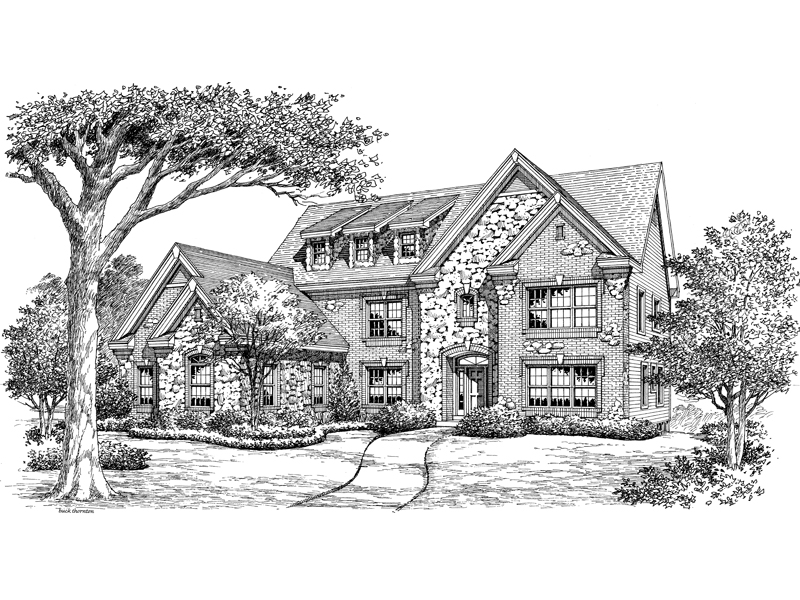 Country French Home Plan Front Image of House - 007D-0158 | House Plans and More