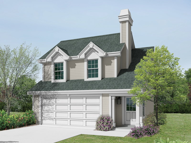 Ranch House Plan Front of Home 007D-0159