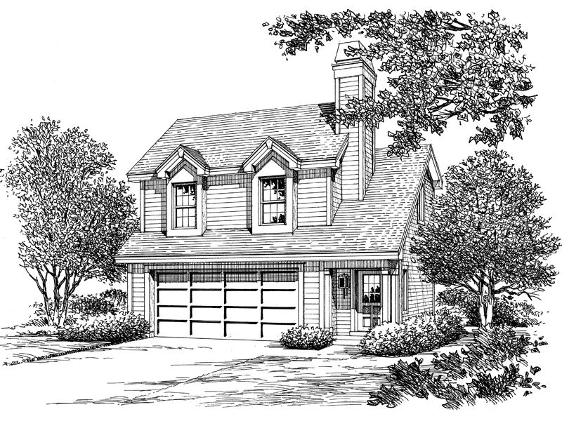 Cabin & Cottage House Plan Front Image of House - 007D-0159 | House Plans and More