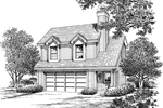 Cabin and Cottage Plan Front Image of House - 007D-0159 | House Plans and More