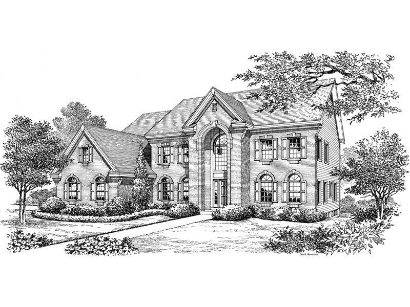 Colonial House Plan Front Image of House - 007D-0160 | House Plans and More