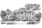 Georgian House Plan Front Image of House - 007D-0160 | House Plans and More