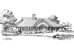 Cabin and Cottage Plan Front Image of House - 007D-0161 | House Plans and More