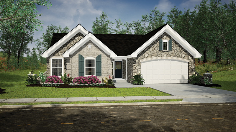 Ranch House Plan Front of Home 007D-0162