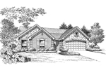 Ranch House Plan Front Image of House - 007D-0162 | House Plans and More