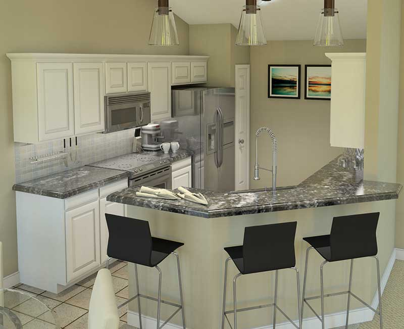 Country House Plan Kitchen Photo 01 007D-0162