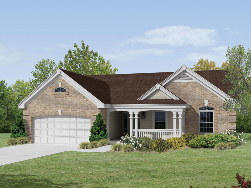 Ranch House Plan Front of Home 007D-0163