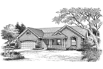 Traditional House Plan Front Image of House - 007D-0163 | House Plans and More