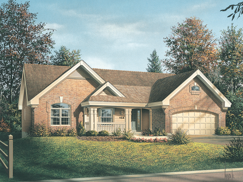 Traditional House Plan Front of Home 007D-0164