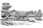Arts & Crafts House Plan Front Image of House - 007D-0164 | House Plans and More