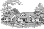 Southwestern House Plan Front Image of House - 007D-0166 | House Plans and More