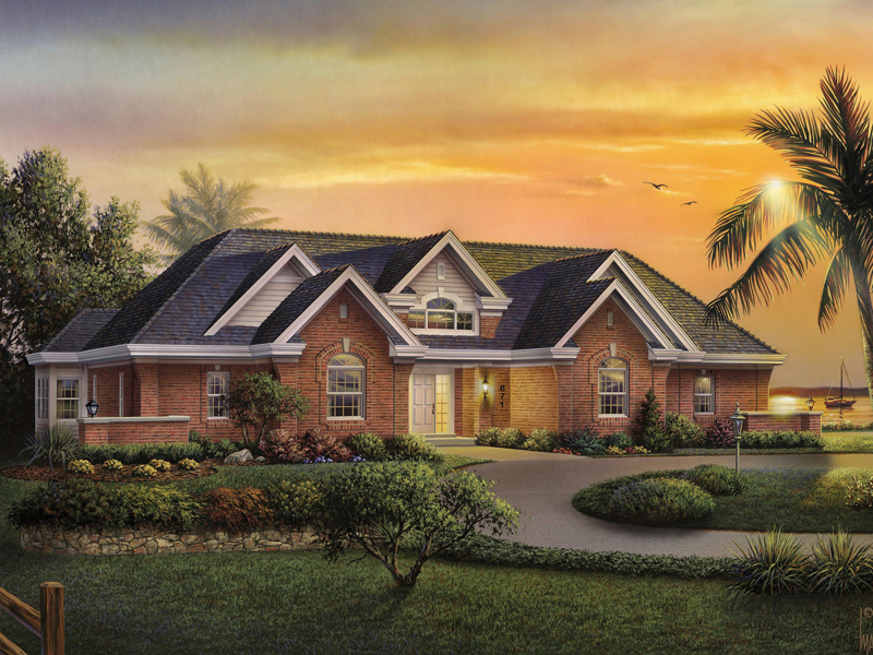 Traditional House Plan Front of Home 007D-0167