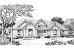 Ranch House Plan Front Image of House - 007D-0167 | House Plans and More