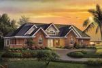 Tradtional Sunbelt Home With Elegant Brick Front