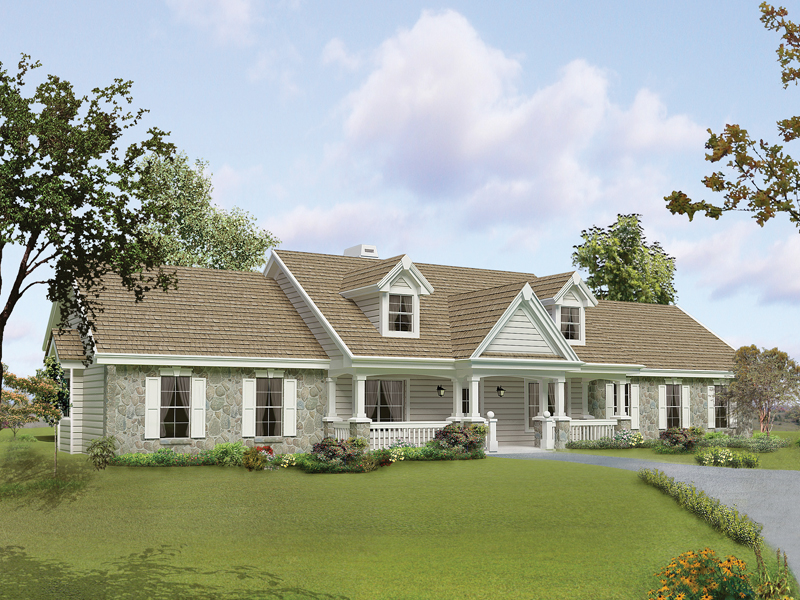 Shiloh manor traditional home plan 007d 0168 house plans for Manor farm house plan