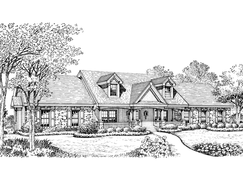 Traditional House Plan Front Image of House - 007D-0168 | House Plans and More