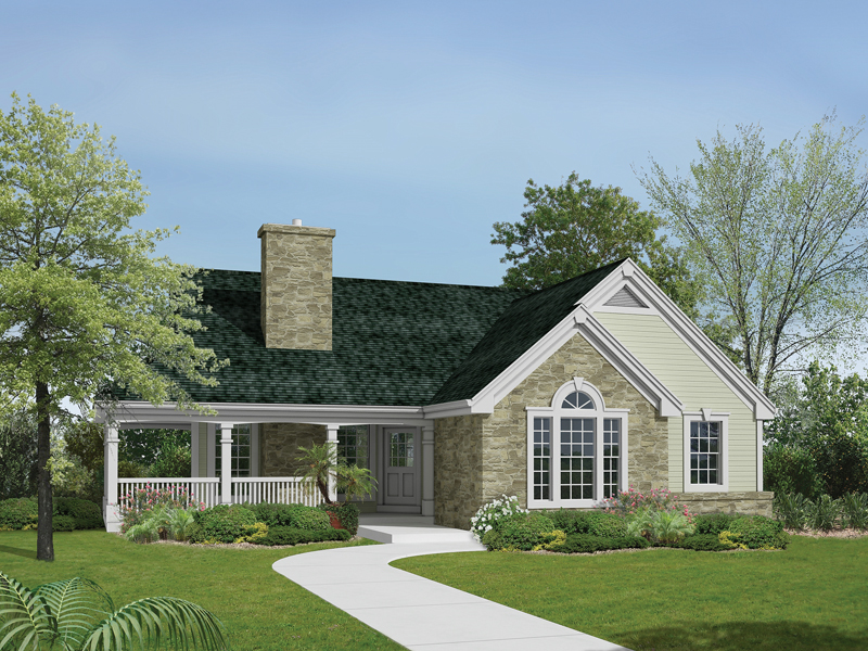 country style home for a sloping lot - Country Style House Plans