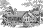 Ranch House Plan Front Image of House - 007D-0169 | House Plans and More