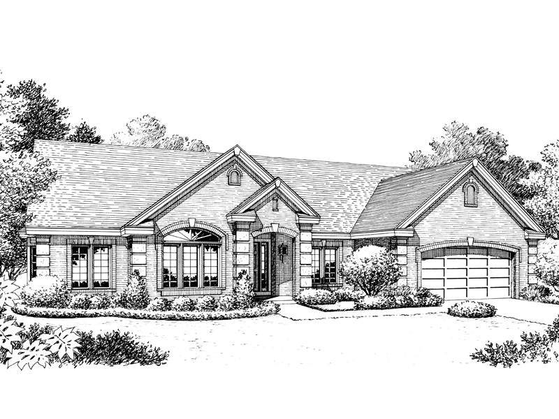 Ranch House Plan Front Image of House - 007D-0170 | House Plans and More