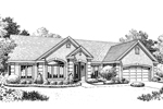 Neoclassical Home Plan Front Image of House - 007D-0170 | House Plans and More