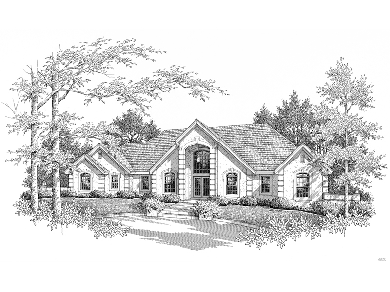 Ranch House Plan Front Image of House - 007D-0171 | House Plans and More