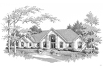 Southern House Plan Front Image of House - 007D-0171 | House Plans and More