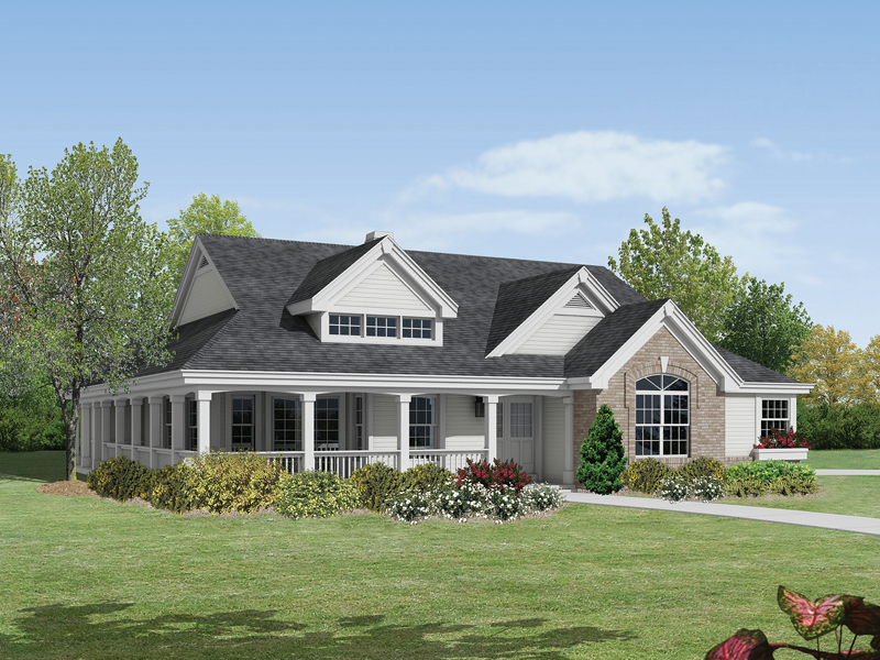 Corder hollow country home plan 007d 0172 house plans House plans with front porches