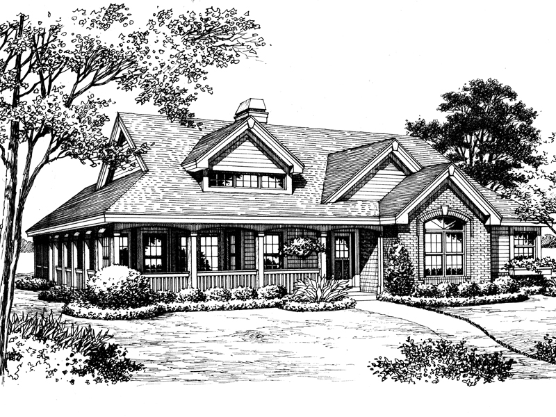 Bungalow House Plan Front Image of House - 007D-0172 | House Plans and More