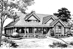 Cabin and Cottage Plan Front Image of House - 007D-0172 | House Plans and More