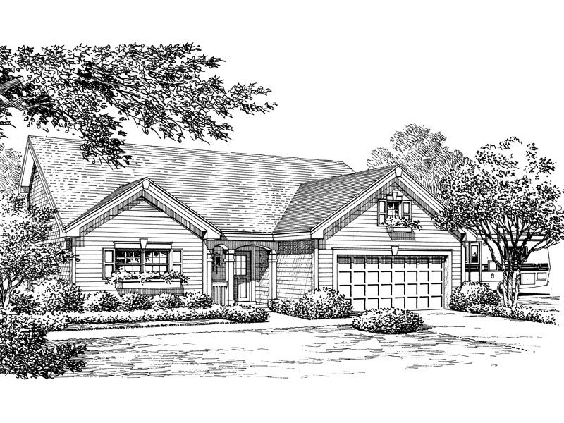 Traditional House Plan Front Image of House - 007D-0173 | House Plans and More