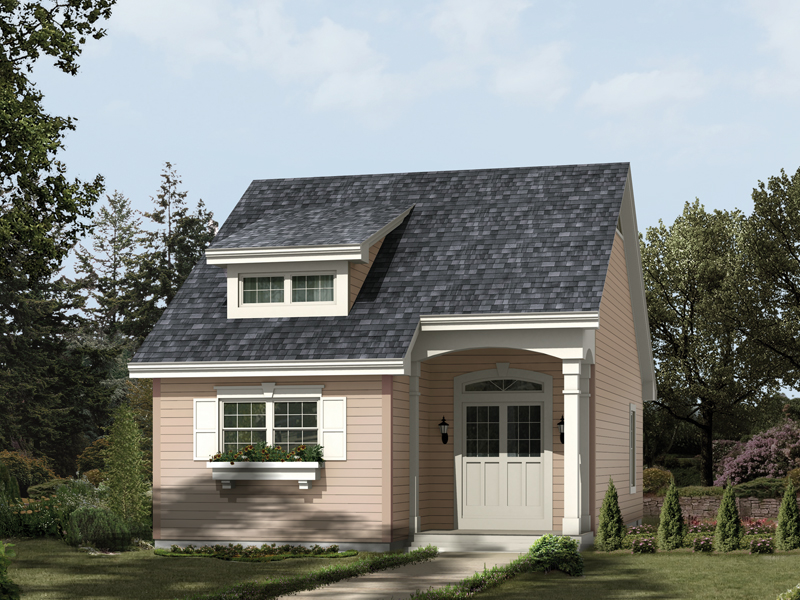 Saltbox House Plan Front of Home 007D-0175