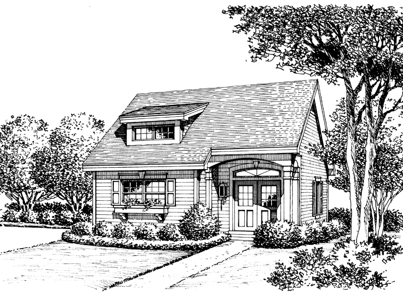 Bungalow House Plan Front Image of House 007D-0175