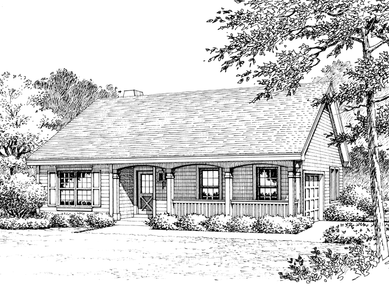 Country House Plan Front Image of House - 007D-0176 | House Plans and More