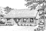 Ranch House Plan Front Image of House - 007D-0176 | House Plans and More