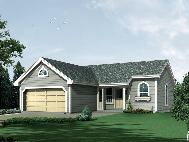Ranch House Plan Front of Home 007D-0177