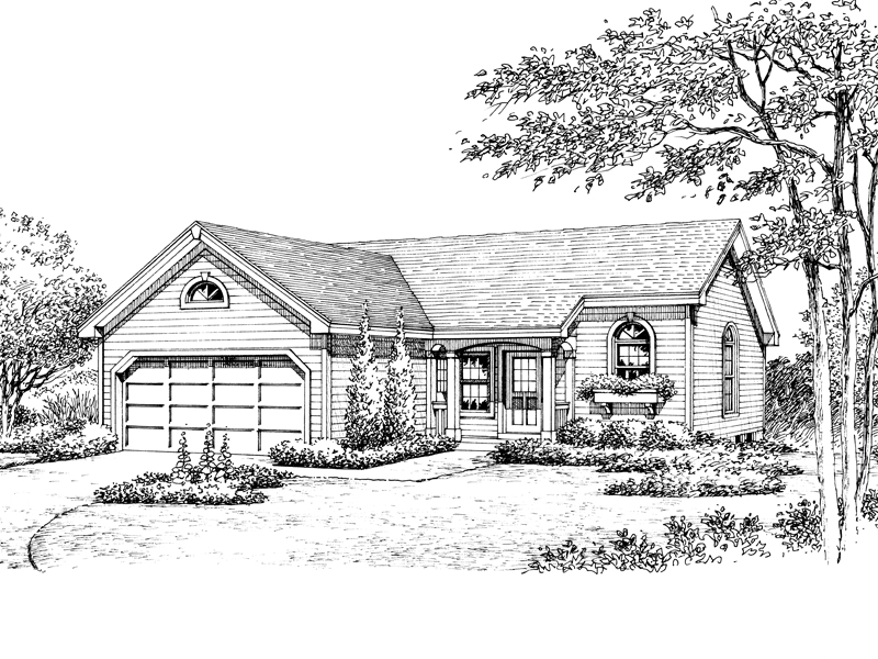 Traditional House Plan Front Image of House - 007D-0177 | House Plans and More