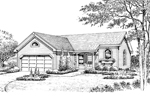 Ranch House Plan Front Image of House - 007D-0177 | House Plans and More