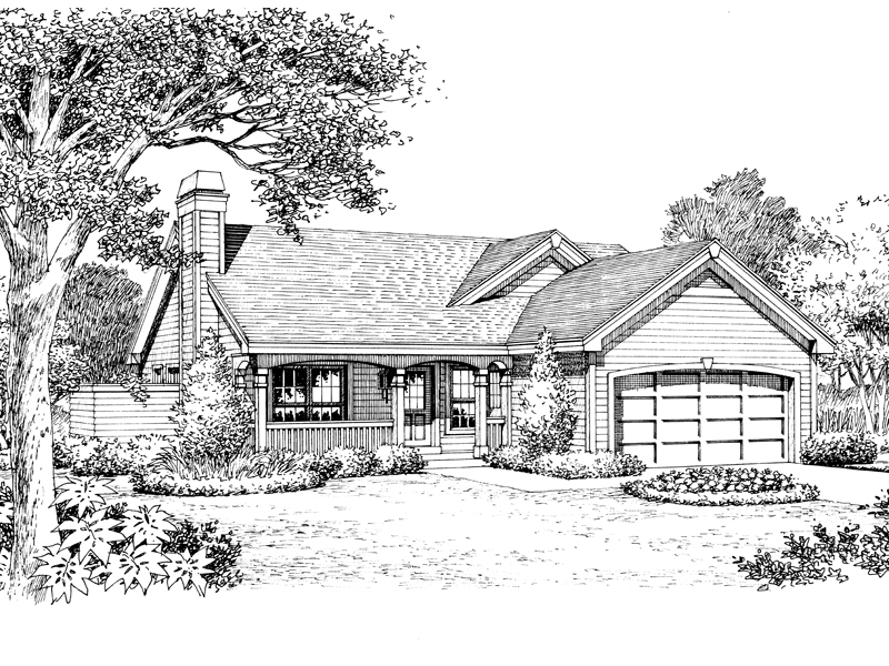 Ranch House Plan Front Image of House - 007D-0178 | House Plans and More