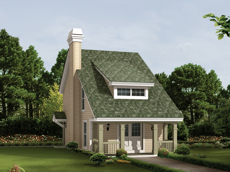 Saltbox House Plan Front of Home 007D-0179