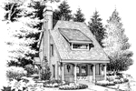 Saltbox House Plan Front Image of House - 007D-0179 | House Plans and More