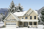 Home Plan With A Classic Stone Exterior