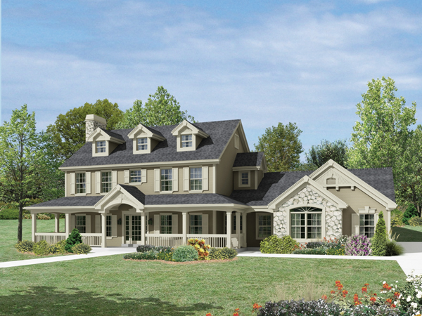 Milburn manor country home plan 007d 0184 house plans for Manor farm house plan