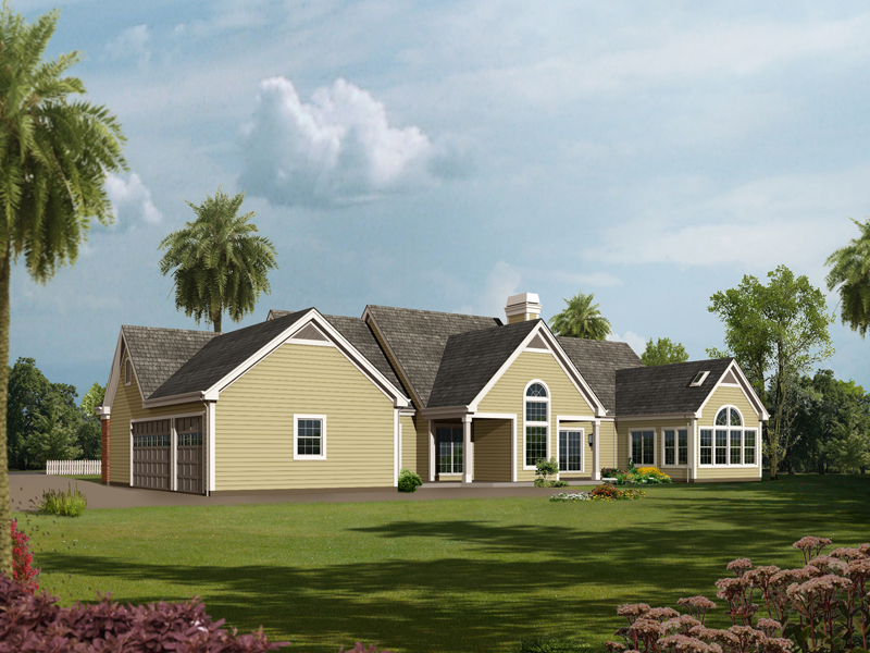Ranch House Plan Color Image of House - 007D-0186 | House Plans and More