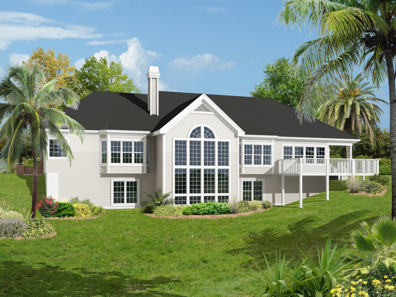 Ranch House Plan Color Image of House 007D-0187