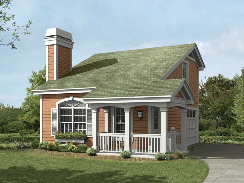 Saltbox House Plan Front of Home 007D-0191