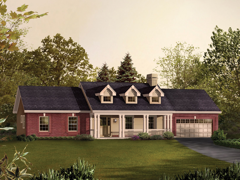Country House Plan Front of Home 007D-0192