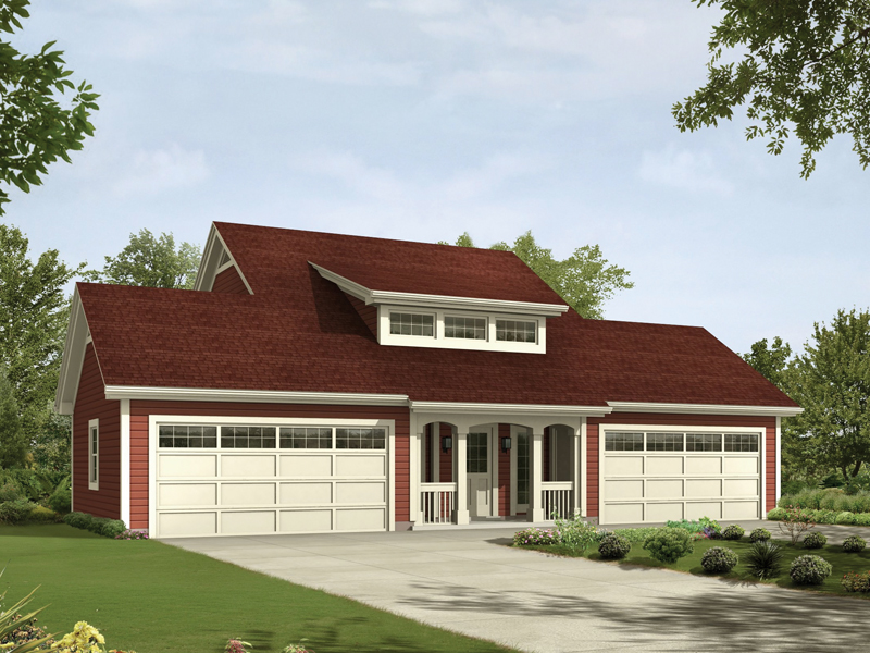 Saltbox House Plan Front of Home 007D-0194